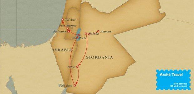 Cartina Giordania E Israele.Tour Israele E Giordania Petra E Gerusalemme 2021 Arche Travel