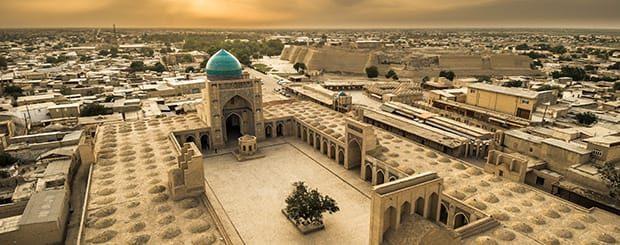 Risultati immagini per via della seta uzbekistan