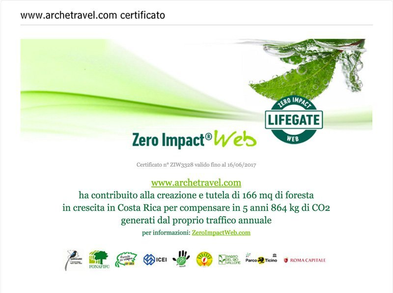 Archeé Travel - Zero Impact Web 2016 - Lifegate