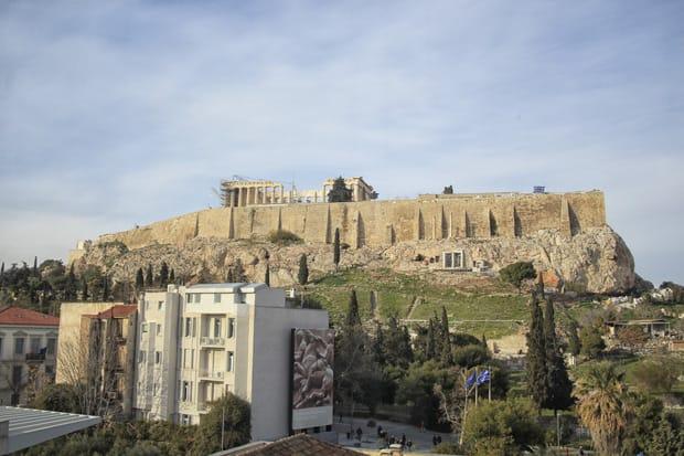 Veduta su Acropoli - Atene