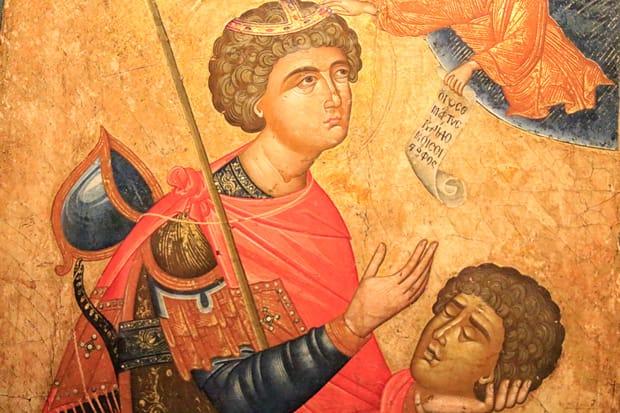 Atene-Museo-Benaki - Icona-di-San-Giorgio-Kefaloforo