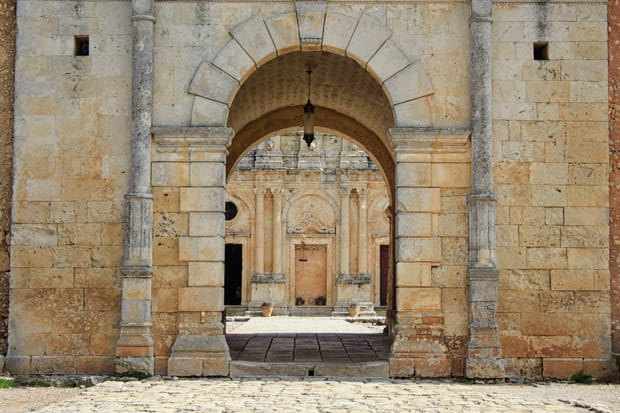 Ingresso Monastero di Arkadi creta