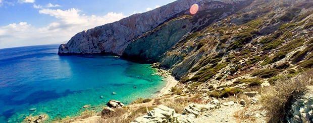 guida folegandros spiagge - mappa spiagge folegandros grecia
