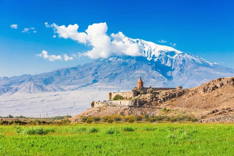 Il Monte Ararat e  monastero di Khor Virap