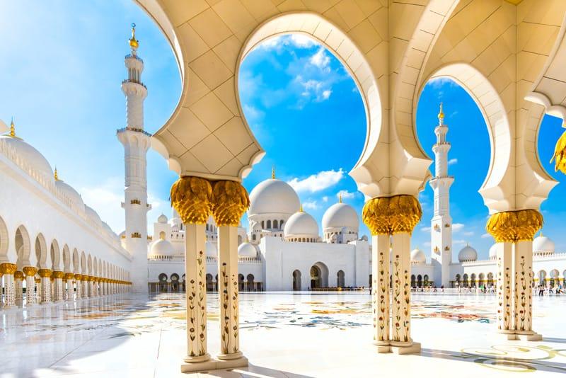 Abu Dhabi cosa vedere Emirati Arabi moschea dello sceicco Zayed