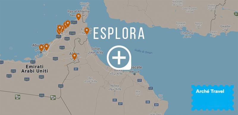 Mappa cosa vedere Emirati Arabi