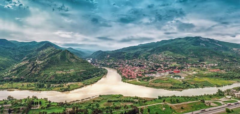 La confluenza dei fiumi cittadini di Mtzkheta