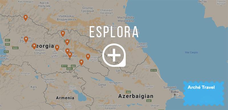 Mappa cosa vedere in Georgia