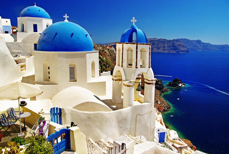 Grecia cosa fare, Santorini in barba