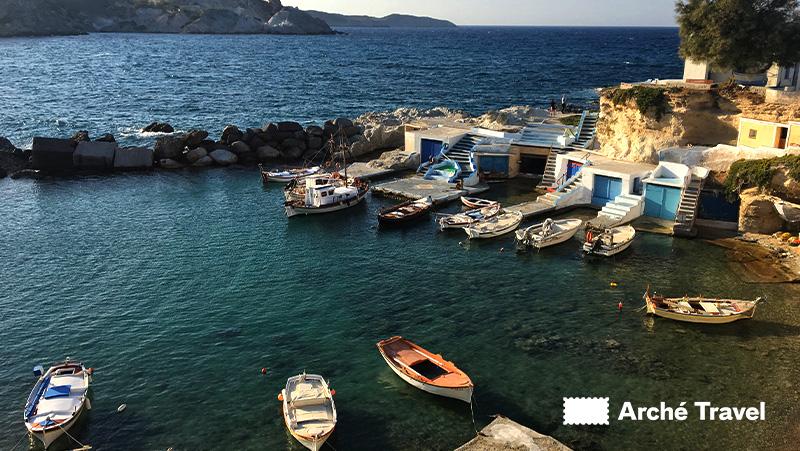 Grecia cosa fare, Milos in barca
