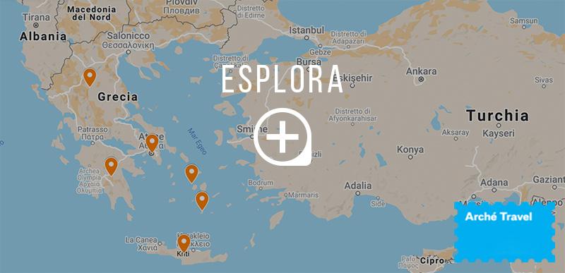 Mappa cosa vedere in Grecia