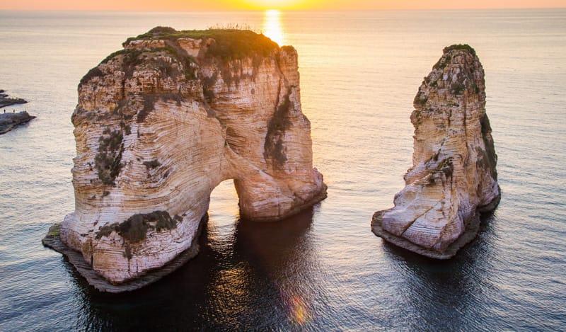 isola dei piccioni libano cosa vedere