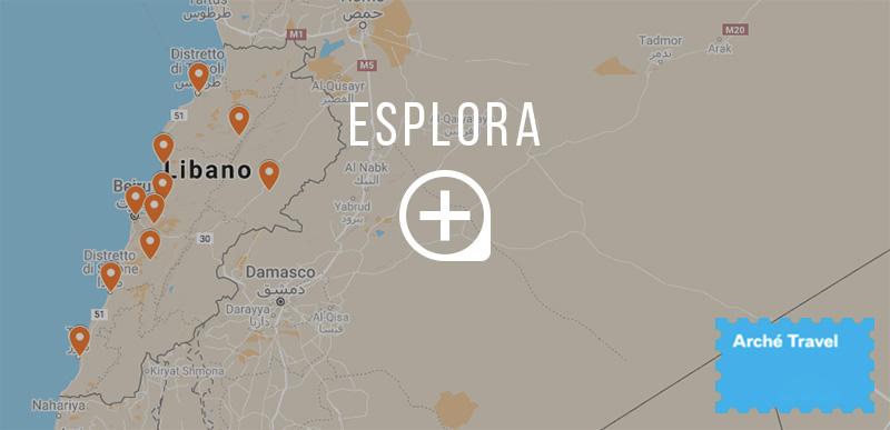 Mappa cosa vedere in Libano
