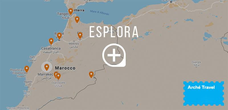 Mappa cosa vedere in Marocco