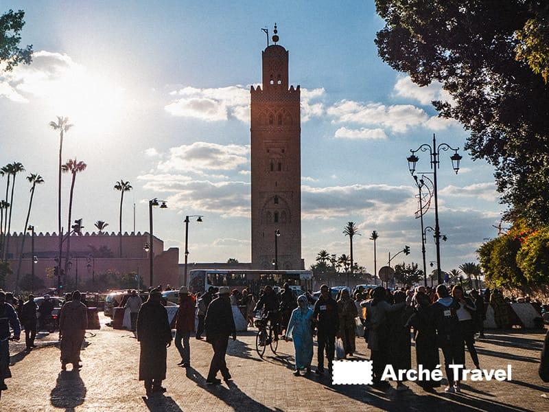 Il Minareto della Moschea della Koutoubia - cosa fare a marrakech