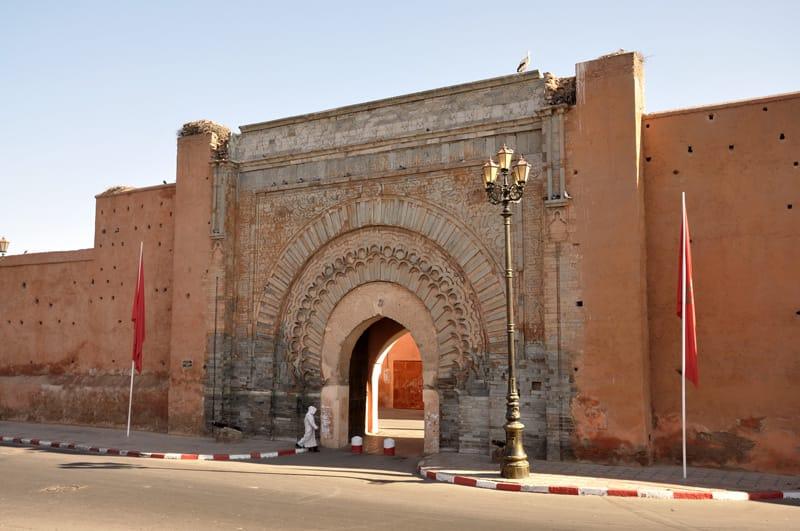 Le mura di Marrakech e la Porta Bab Agnaou