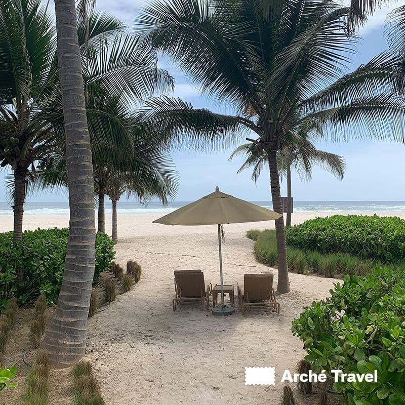 Spiaggia privata presso Anantara Resort di Salalah