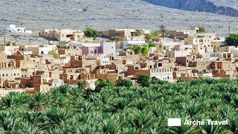 Veduta del villaggio di Al Hamra