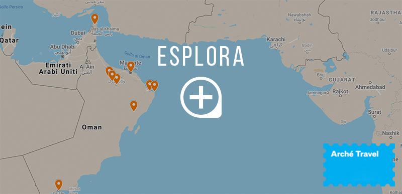 Mappa cosa vedere in Oman