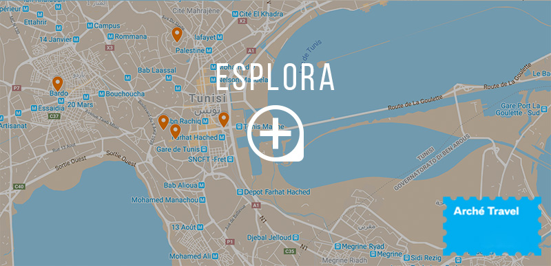 Mappa 5 cose da vedere a Tunisi