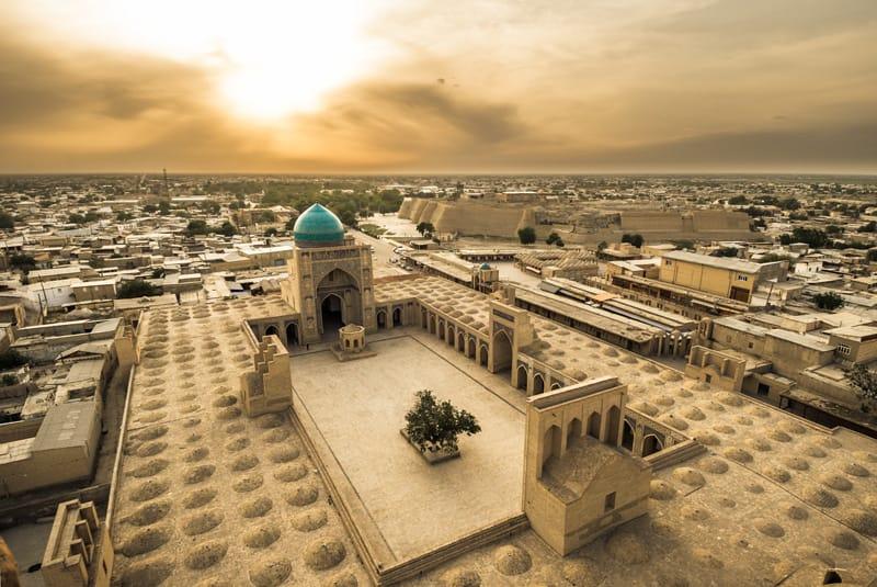 Bukhara panorama - uzbekistan cosa vedere