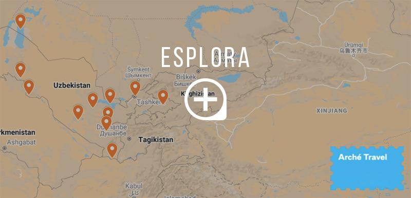 Mappa cosa vedere in Uzbekistan