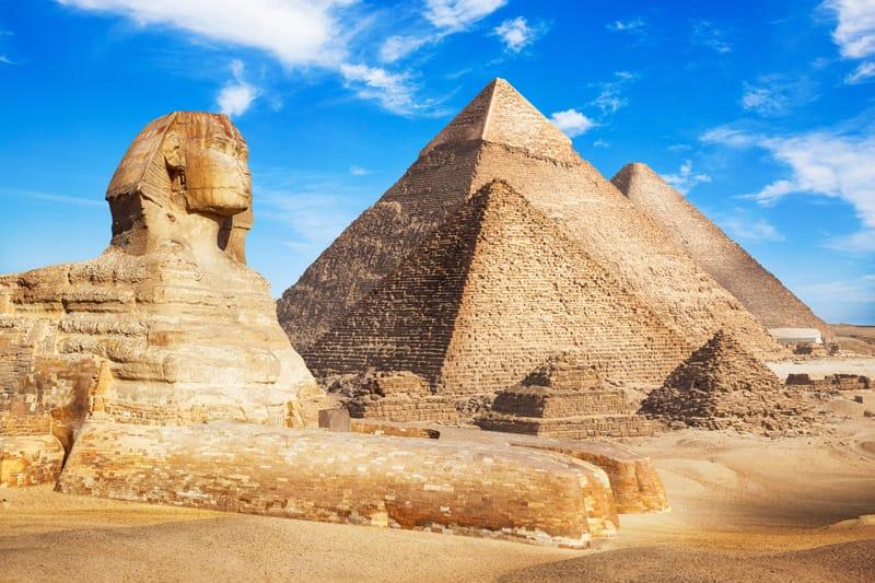 Giza piramidi sfinge