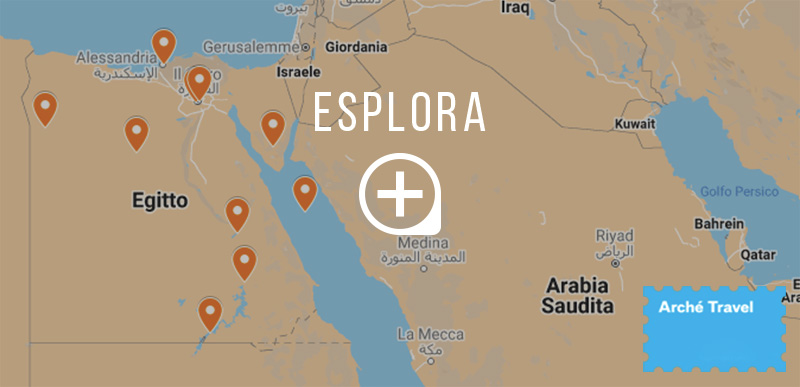 Mappa cosa vedere in Egitto