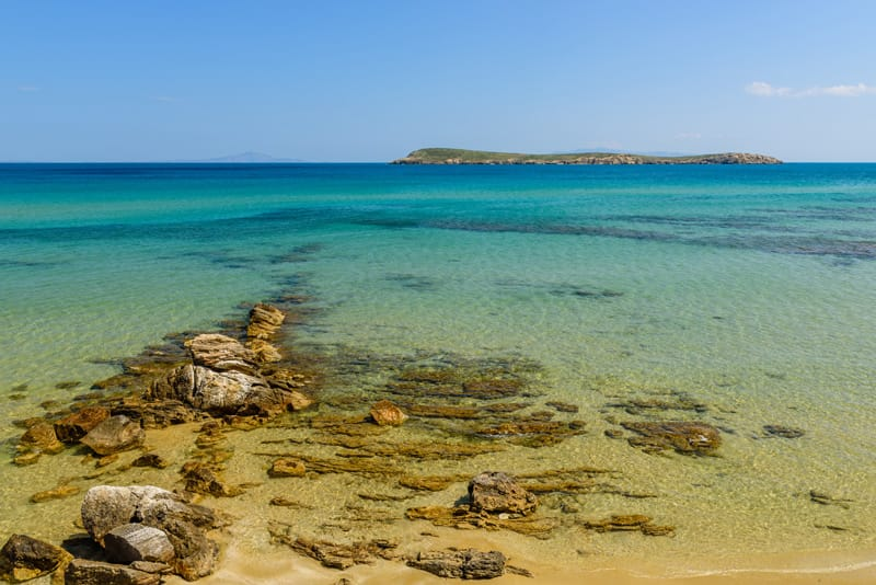 Golden beach Paros cicladi