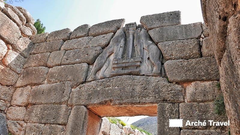 porta dei leoni micene storia dell'antica grecia