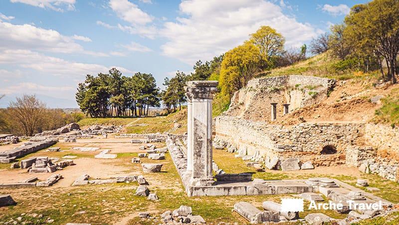 sito archeologico filippi storia greca - storia dell'antica grecia