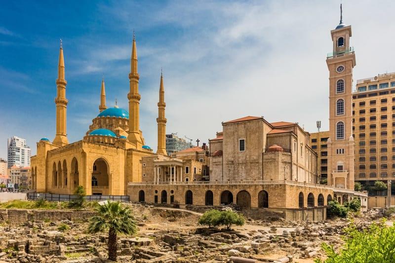 Beirut Moschea Blu - Storia del Libano