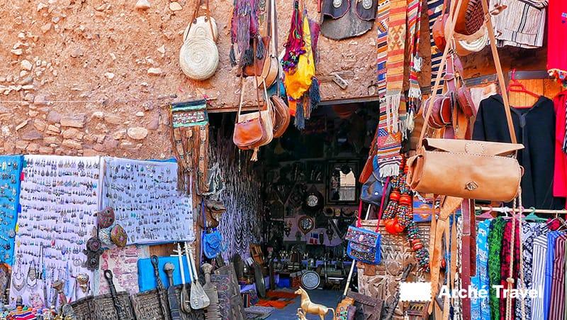 Prodotti in cuoio artigianali del Marocco - souvenir marocco