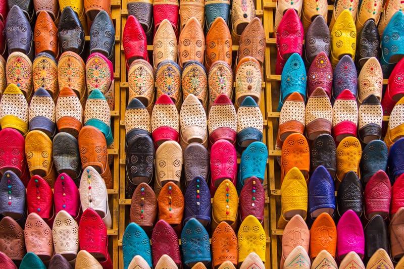 Moderne babouche - cosa comprare in marocco