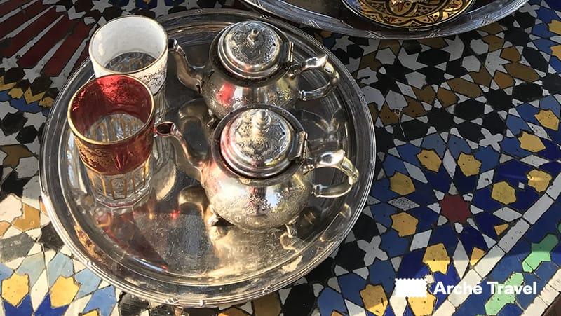 Tradizionale teiera marocchina