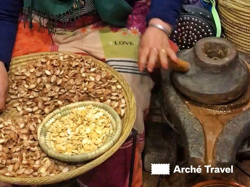 Lavorazione olio d'Argan