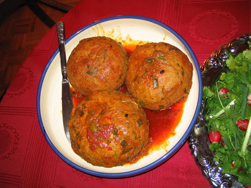 piatti tipici Giordania - kufta cucina giordana