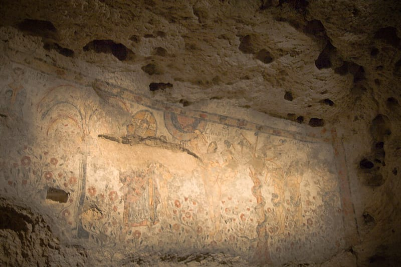 affreschi cripta peccato originale
