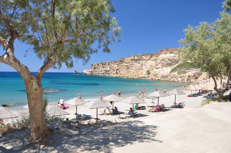 Triopetra mappa spiagge Creta