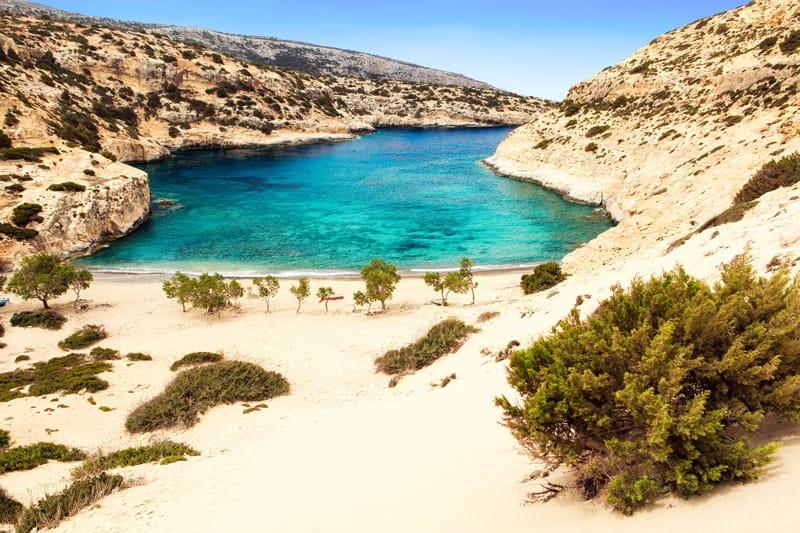 Agiofarago mappa spiagge Creta