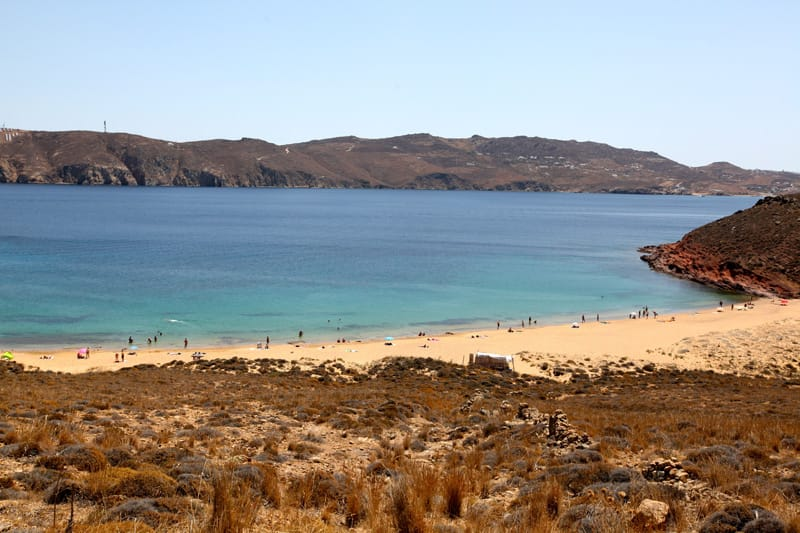 Panormos - mappa spiagge Mykonos