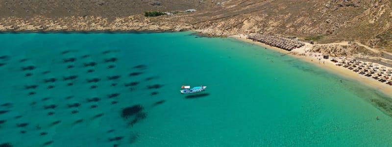 Elia le spiagge più belle mykonos