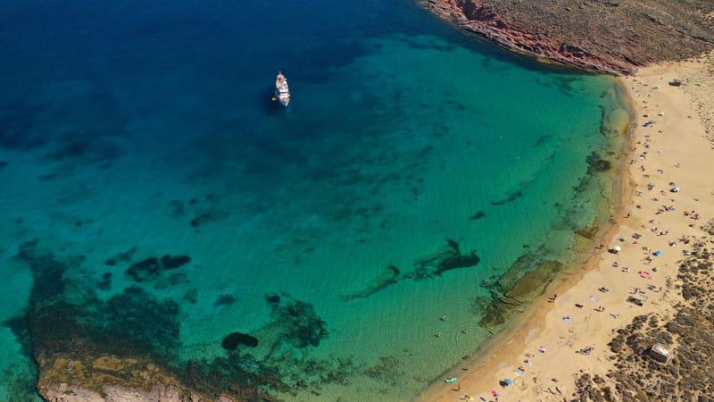 agios sostis - mappa spiagge Mykonos