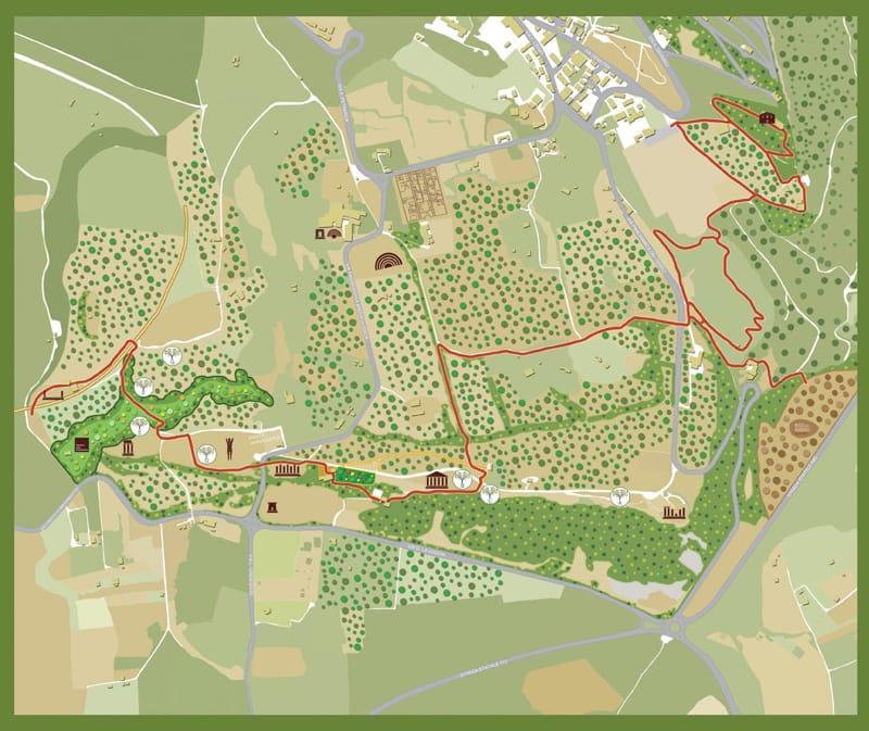 mappa valle dei templi
