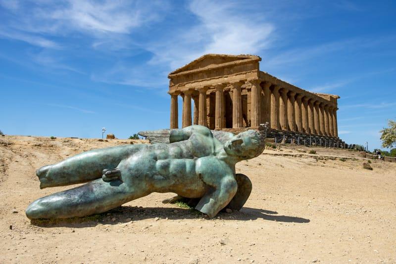 Statua icaro tempio concordia