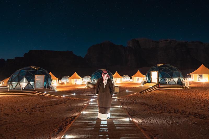 dove dormire all'aperto, dove dormire sotto le stelle, Wadi Rum, Giordania