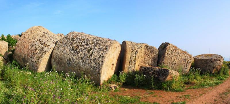 colonne parco archeologico di selinunte