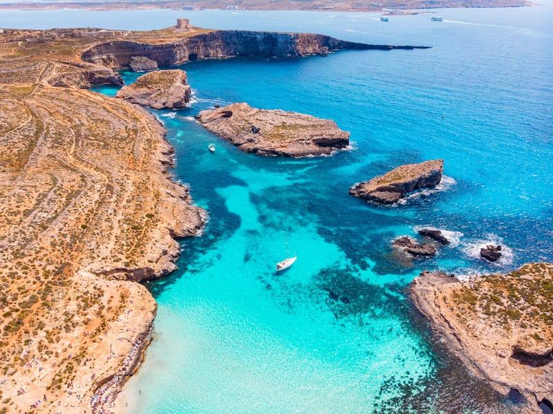 Comino Blue Lagoon - Cosa vedere a Malta in 3 giorni