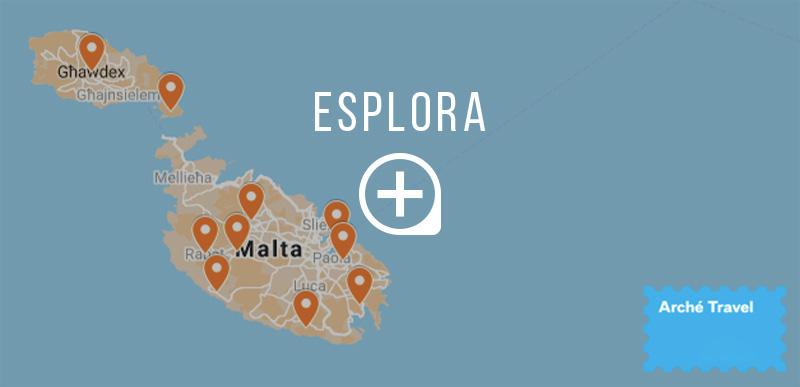 Mappa 10 cose da vedere a Malta