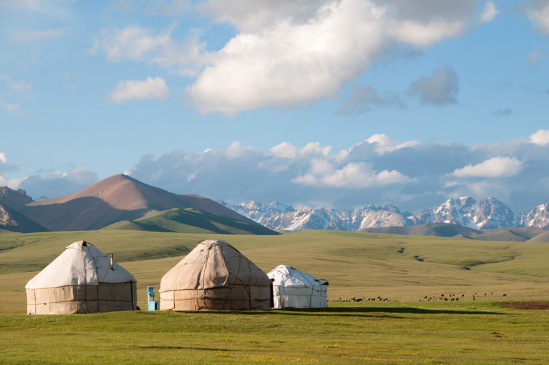dormire in iurta in Kirghizistan